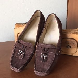 Ugg Chestnut Slip On Suede Loafers